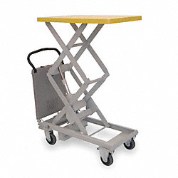 Scissor Lift Cart, 220 lb., Steel, Fixed