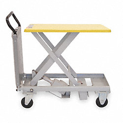 Scissor Lift Cart, 330 lb., Steel, Fixed