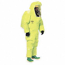 Encapsulated Suit, 2XL, Lime Yellow, Rear