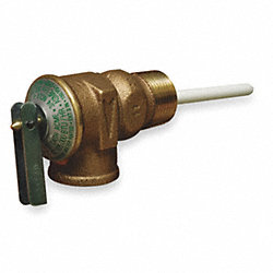 T and P Valve, Residential, 3/4In, M x FNPT