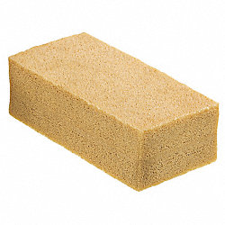 Smoke and Soot Sponge, Tan, 3In L, 6In W