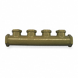 Manifold, 4 Port 1/2 And 3/4 In, Pk 6