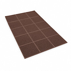 Kitchen Mat, 3 x 6 Ft, Brown