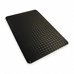 Antifatigue Mat, 2 x 3 Ft, Black