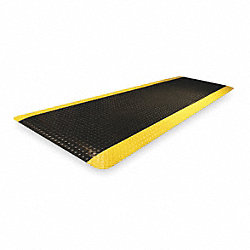Antifatigue Mat, 3 x 10, Black With Yellow