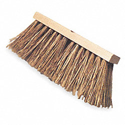 Push Broom, PP, Wood Block, 16 In. OAL