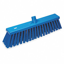 Heavy-Duty Floor Broom, Medium, Blue