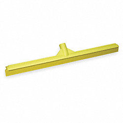 Floor Squeegee, Yellow, 24 In. L, Rubber