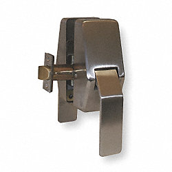Push/Pull Latch, Steel, Backset 5 In