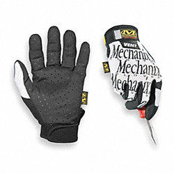 Mechanics Gloves, White, XL, PR