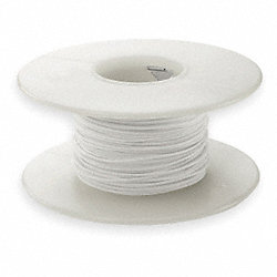 Wire Wrap Wire, Kynar, 28AWG, White, 100 Ft