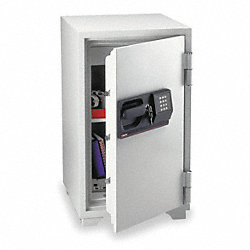 Fire Safe Commercial Safe, Gray, 1 Shelf