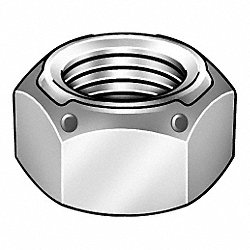 Deformed Thread Locknut, 1-8, PK 10