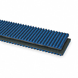 Conveyor Belt, 3 Ply Nitrile, Blue, W 6 In