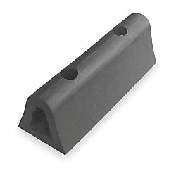 Dock Bumper, Rubber, 4x4 1/4x24 In