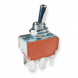 Toggle Switch, DPDT, 6 Conn., On/On