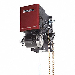 Indusl Door Opener, Hoist/Left, Max H 24Ft