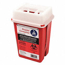Sharps Container, 1/4 Gal., Hinged Lid