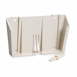 Locking Wall Mount Bracket, Plastic, Beige