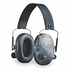 Electronic Ear Muff, 19dB, Over-the-H, Gra