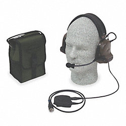 Electronic Ear Muff, 21dB, Grn, (1) AA