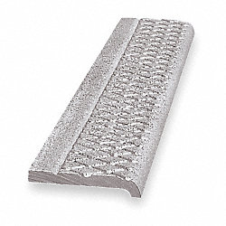 Safety Stair Nosing, Gray, Alum, 4 ft. W