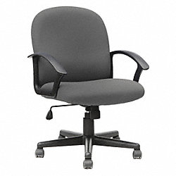 Midback Tilter Chair, Fabric Blk