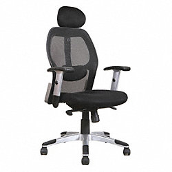 Midback Mesh Chair w/Headrest, Blk