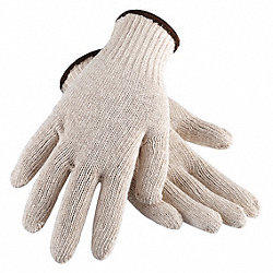 Knit Glove, Cotton, Men's L, PR