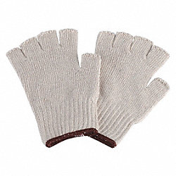 Knit Gloves, Poly/Cotton, L, PR