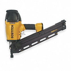 Air Framing Nailer, Offset Rnd, 28 Deg, Wre