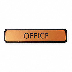 Notice Sign, 2 x 8In, BK, Vinyl, OFC, ENG