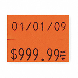 Pricing Label Kit, 2-Line, Red, PK3