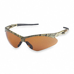 Safety Glasses, Bronze, Scratch-Resistant