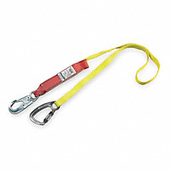 Lanyard, 1 Leg, Nylon, Yellow