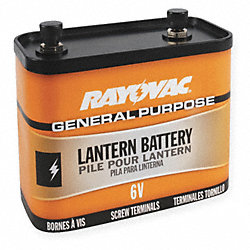Lantern Battery, Industrial, 6V, Screw Term