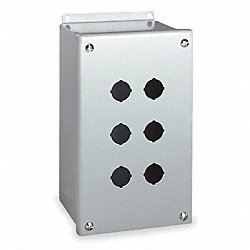 Enclosure, Pushbutton, Miniature, 6 Holes