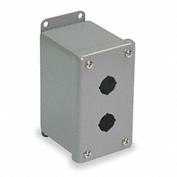 Enclosure, Pushbutton, Extra Deep, 2 Holes