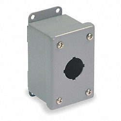 Enclosure, Pushbutton, Slimline, 1 Hole