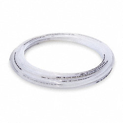 Tubing, 3/8 In OD, Nylon, Clear, 50 Ft