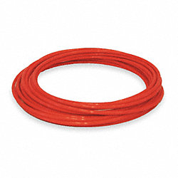 Tubing, 1/4 In OD, Nylon, Red, 100 Ft