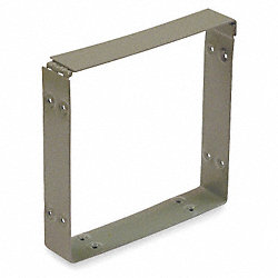 Wireway, Connector, 4x4 Sq In, Steel, Gray