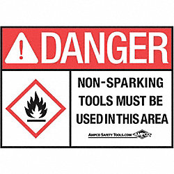 Danger Sign, 10 x 14In, BK and R/WHT, ENG