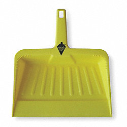 Hand Held Dust Pan, Plastic, 12 In. W, Ylw