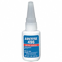 Instant Adhesive, 1 Oz Bottle, Clear