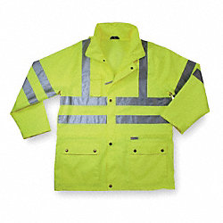 Rain Jacket, Hi-Vis Yellow/Green, M