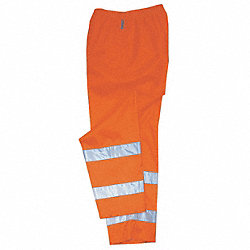 Hi-Vis Breathable Rain Pants, Orange, XL