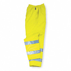 Hi-Vis Breathable Rain Pants, Ylw/Green, M