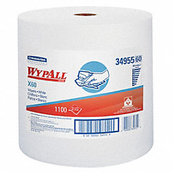 Wypall Wiper Rolls, White, 1228 ft. L