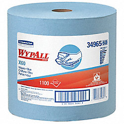 Wypall Wiper Rolls, 1228 ft. L, Blue